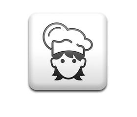 Boton cuadrado blanco 3D cocinera