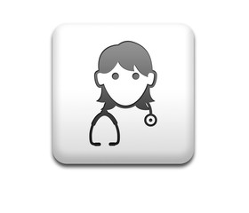 Boton cuadrado blanco 3D doctora