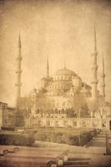 Vintage image of Blue Mosque, Istambul