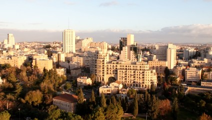 Contemporary Western Jerusalem at winter