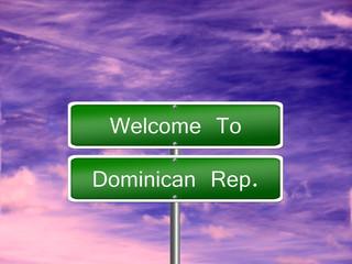 Dominican Republic Travel Sign