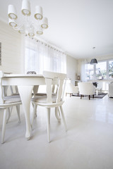 White light dining room