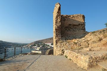 Ruins of Cembalo fortress, republic Crimea