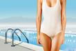 woman in white swimwear