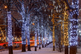 New Year and Christmas lighting decoration of the city