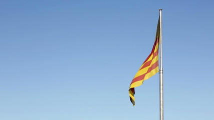 Catalan flag in Catalonia