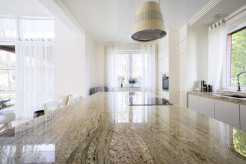 Granite worktop inside apartment