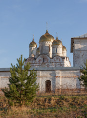 An old fortress Luzhetsky monastery in Mozhaysk
