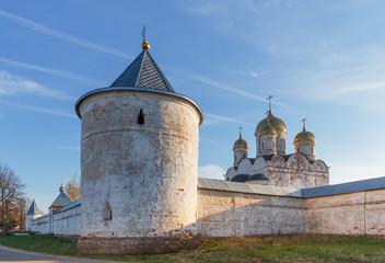 An old fortress Luzhetsky monastery in Mozhaysk