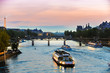 Tour Boats on Seine at Sunset - 76026198
