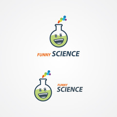 Funny science logo vector