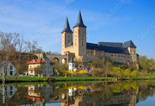 Deurstickers Vestingwerk Rochlitz Schloss - Rochlitz castle 01