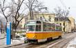 Tram at Patriarch Evtimiy Square in Sofia - Bulgaria