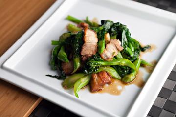 Thai style pork dish