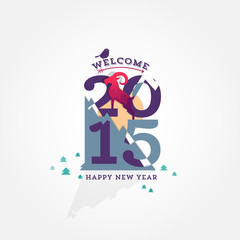 happy new year 2015 - with the symbol of the year