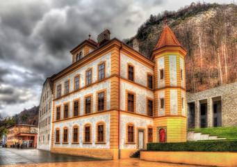 Buildings at the Peter Kaiser square in Vaduz - Liechtenstein