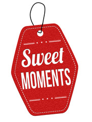 Sweet moments label or price tag