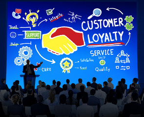 Customer Loyalty Service Support Business Concept