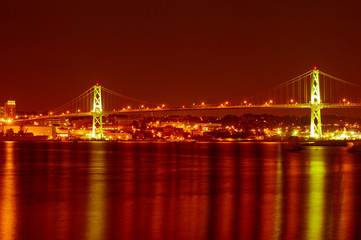 Angus Macdonald bridge over Halifax harbour, Nova Scotia