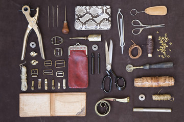 Leather craft tools and utensils
