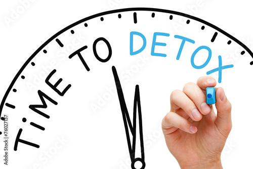 Leinwanddruck Bild Time to Detox