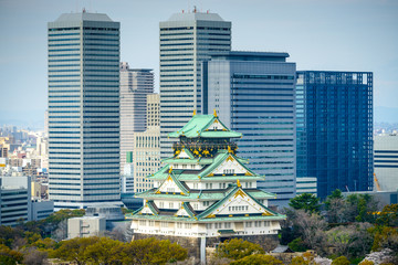 Osaka Castle and Skyline