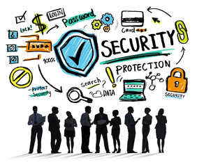 Business People Discussion Security Protection Concept