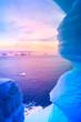 blue ice cave