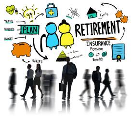Business People Retirement Employee Goals Worker Concept
