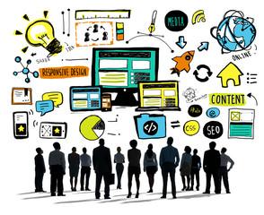 Business People Responsive Design Content Aspiration Concept