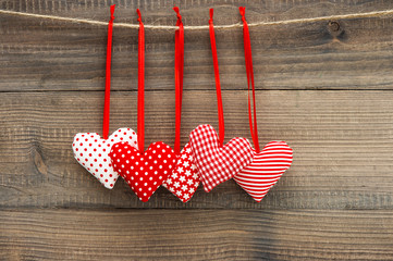 Lovely Valentines Day Decoration Red Hearts