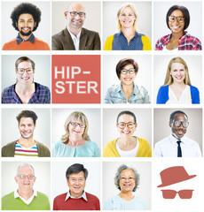 Individuality Portrait Profile Real People Hipster Concept