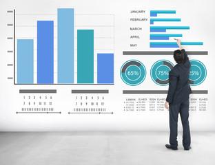 Businessman Strategy Information Design Ideas Vision Concept