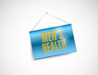 mens health banner sign illustration