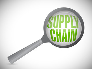 supply chain under review magnify glass