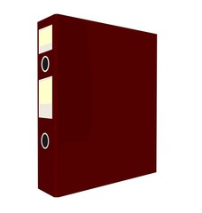 Realistic illustration of close red folder