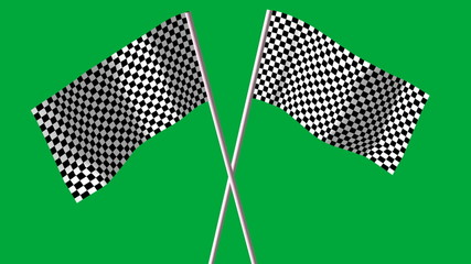 checkered F1 flags