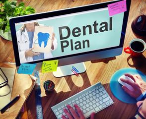 Dental Medical Healthcare Hygiene Plan Concept