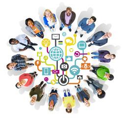 Global Communications Social Network Togetherness Concept