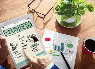 Digital Devices E-business Commerce Planning Concept