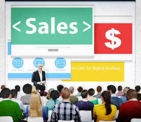 Sales Finance Income Money Currency Seminar Learning Concept