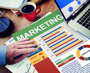 Marketing Businessman Working Calculating Thinking Planning