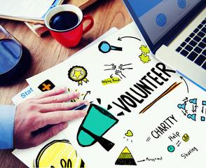 Volunteer Charity Relief Work Donation Help Concept
