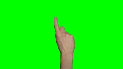 Rechte Hand - Greenscreen - Mann - Virtuelles Display
