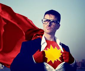 Kaboom Strong Superhero Success Professional Empowerment Stock