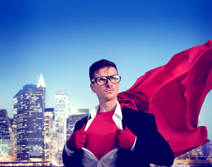 Strong Superhero Professional Leadership Business Victory