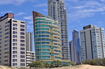 Beach cityscape. Gold Coast City in Queensland, Australia.