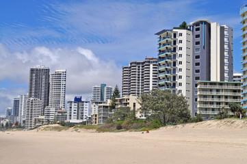 Gold Coast City in Queensland, Australia. Beach cityscape.