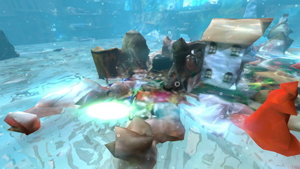 Within the digital three-dimensional fantasy world