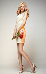 Fashion photo of young magnificent woman